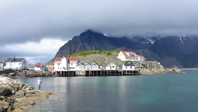 Henningsvaer between showers.