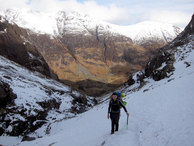 The walk in to Stob Corie nan Lochan