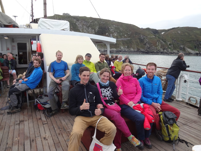 The AMC group hoping for calm seas on the way back.